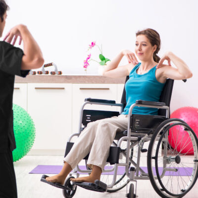 exercises at Home with physiotherapist for stroke, neurological rehabilitation, NDIS